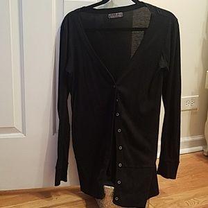 Micheal Stars Black Cotton Cardigan